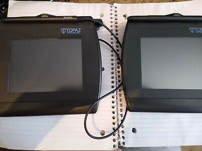 Lot Of 2 Topaz 4*5 LCD Signature usb reader Pads
