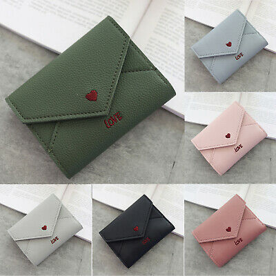 Womens Ladies Smart Envelope Leather Wallet Money Folding Coin Purse Card Holder