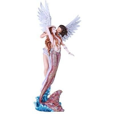 Mermaid and Angel Large Statue Figurine 25 Inch New