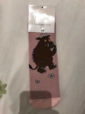 Girls Gruffalo Slipper Socks 1 Pair Size 9-12