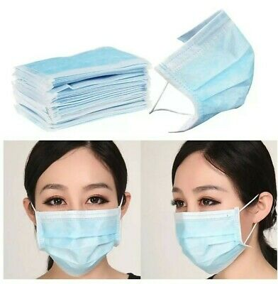 50 Disposable Face Mask Medical Dental Industrial Dust Proof Respirator 3-PLY