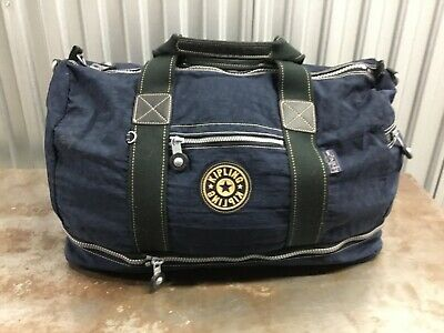 KIPLING Luggage Expandable Duffle Navy Blue Packable