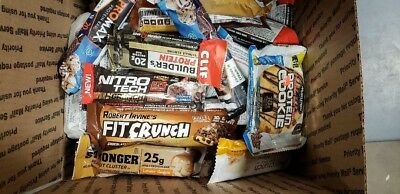 70 Assorted High Protein Bars   / 20-30 Protein Grams Nutrition Bars No Reserve