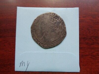 1600's England Great Britain Shilling 12 Pence silver coin