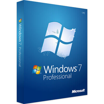 Windows 7 Pro Professional | Win Vollversion 32/64Bit | Endnutzer Version