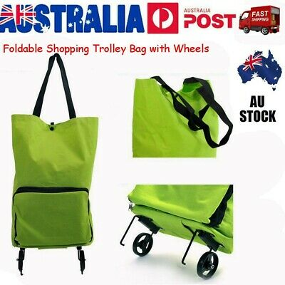 Foldable Shopping Cart Trolley Portable Folding Grocery Bag Tote Market Trolleys