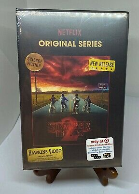 NEW STRANGER THINGS SEASON 2 BLU RAY DVD TARGET EXCLUSIVE VHS PACKING w/ PHOTOS
