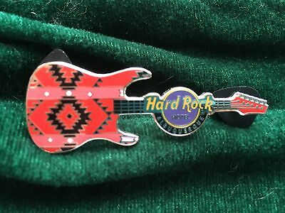 Hard Rock Cafe Pin Albuquerque Hotel & Casino ~ Tribal Patterned Guitar