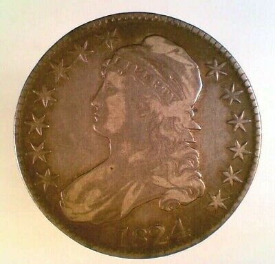 1824 Capped Bust Silver Half Dollar (003)