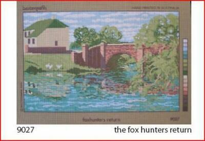 Needlepoint Canvas Large Scenic Foxhunters Return