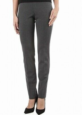 Ilusion Women's Pants Heather Gray Size 4 Pull-On Solid Stretch  $89- 728