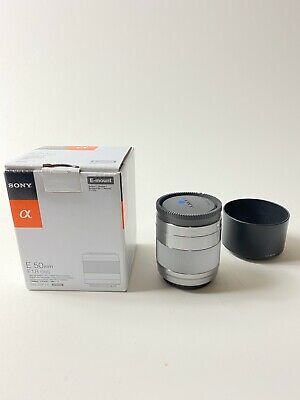 Sony 50mm f1.8 E OSS Lens 50/1.8 SEL50F18 Silver with Soft Case