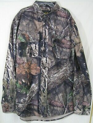 Cabela's Mossy Oak  Men's Large Tall Polyester Flannel Shirt New Without Tags