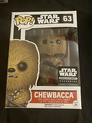 Funko POP! Star Wars Series CHEWBACCA (Flocked) #63 Vinyl Smuggler's Bounty