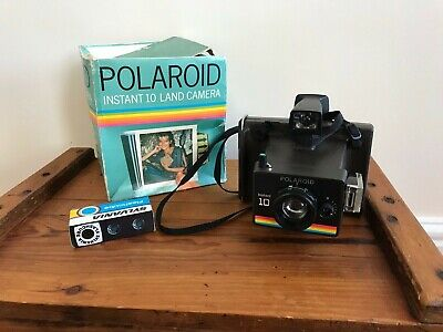 Vintage Boxed Polaroid Instant 10 Land Camera With Original Paperwork