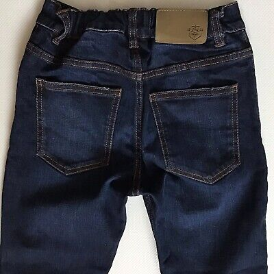 Boys Next Skinny Dark Blue Faded Jeans Size 11 Years (400)