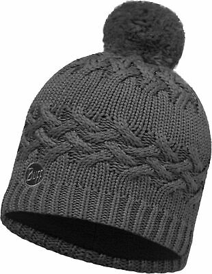 Buff Active Laki Stripes Primaloft Knitted Beanie Hat Grey Pewter Grey