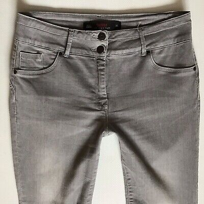 Ladies Next Lift Slim & Shape Skinny faded Grey Jeans Size 14 L W32 L32 (400)
