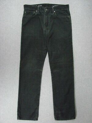 "SJ17401 **GAP 1969** STRAIGHT LEG CORDUROY JEANS 31x32 (msr 32""x32"") BROWN"