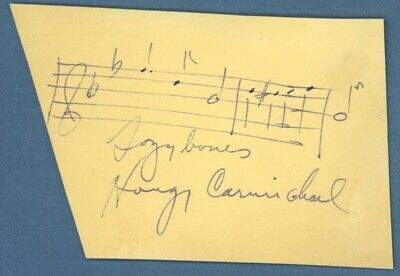 Hoagy Carmichael - Autograph Musical Quotation Signed With Co-Signers