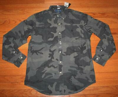 Polo Ralph Lauren Mens Classic Fit Camouflage CAMO Buttondown Oxford Shirt *3B