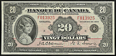 1935 Bank of Canada $20 French - VF+