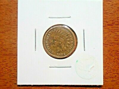1882 US Indian Head One Cent Circulated in coin flip cleaned
