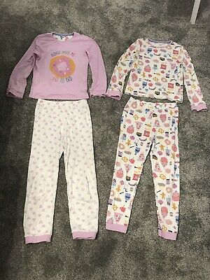 Girls Pjamas x 2 Pink With Donut Cake Theme Age 9 From John Lewis