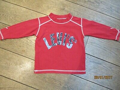 Levis Boys Red Long Sleeve T-Shirt Age 2Y
