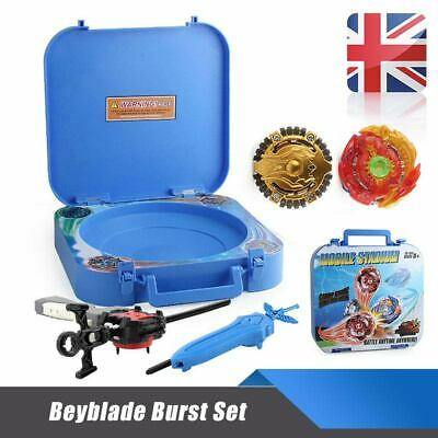 9X 4D Boxed bayblade Beyblade Burst Set With Metal Launcher Arena Fight Battle