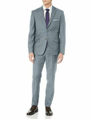 DKNY Mens Suit Gray Size 38 Notch-Collar Two Button Slim Fit 2 Piece $650 751