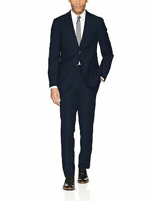 DKNY Mens Suit Blue Size 42 Short Stretch 2 Piece Slim Fit Wool $650- 470