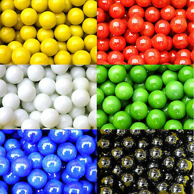 60 = 10 each of 6 SOLID COLOUR MARBLES 14//15mm RED GREEN BLUE WHITE BLACK YELLOW