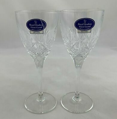 Royal Doulton Finest Crystal Glasses Hellene Sherry Stamped Royal Doulton