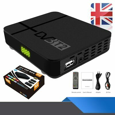 HD 1080P DVB-T2 Digital Receiver 3D Set Top TV Box USB Freeview Recorder HDMI UK