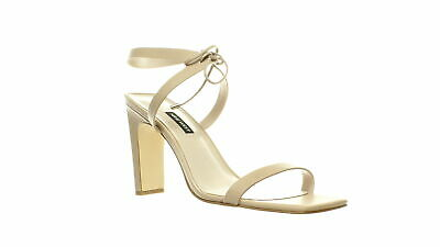 Nine West Womens Longitano Beige Ankle Strap Heels Size 11 (691429)