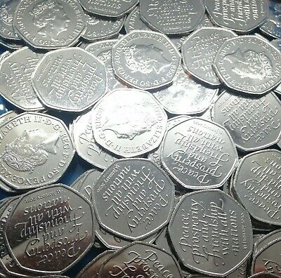 Brexit 50P Coin 2020 Uncirculated From Sealed Bags