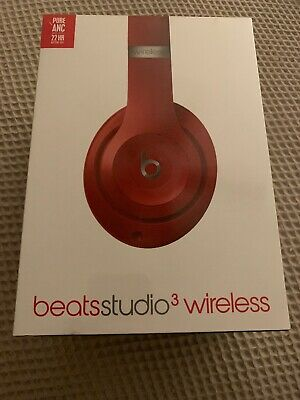 Beats by Dr. Dre Studio 3 Wireless Headphones Red New