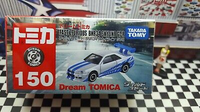 TOMICA #150 FAST /& FURIOUS BNR34 SKYLINE GT-R NEW IN BOX DREAM TOMICA SERIES