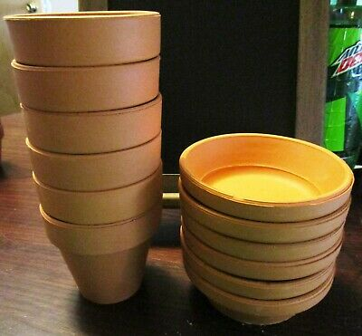 Terra Cotta Flower Pots and Saucers