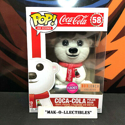 Funko Pop! Ad Icons Flocked Coca Cola Polar Bear #58 Boxlunch Exclusive