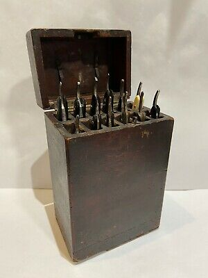 Victorian French Traveling Barber Razor Box With Complete Contents Solingen Etc