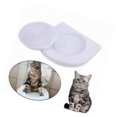 ADEPTNA Cat Toilet Training Seat- Litter Tray Kit Pet Kitty Potty Train System N