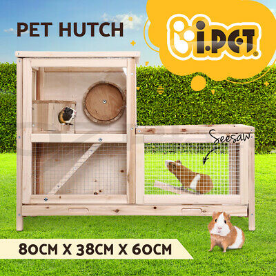 i.Pet Hamster Rabbit Guinea Pig Ferret Rodents Hutch Hutches Wooden Cage Running