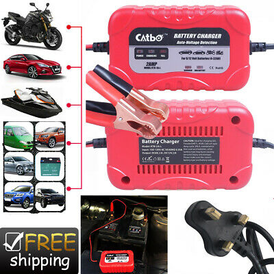 Car Battery Charger 6V 12V 2A Smart Pulse Repair Portable Leisure Automobile UK