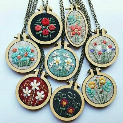 with Chain Wooden Framing Embroidery Hoop Cross-Stitch Frame Hand Stitching