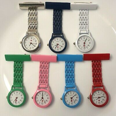 Nurse Fob Watch Brooch Tunic Fob Doctor Watch+Free Battery Uk Seller
