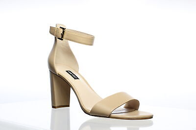 Nine West Womens Nora Beige Ankle Strap Heels Size 11 (696530)