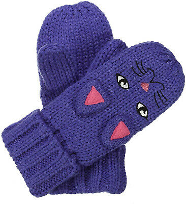 Regatta Animally Kids Winter Mitts Cute Cat Animal Design Fleece Lined Mittens