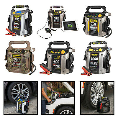 Portable Battery Jump Starter Car Vehicle Peak Charger Booster W/ Air Compressor